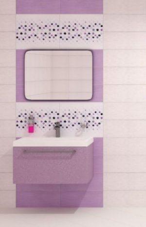плочки за баня Domenico Violet 20x50