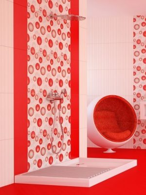 плочки за баня Dreams Rojo 25x50