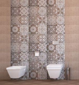 плочки за баня Klio Taupe 25x50