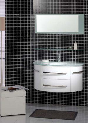 комплект пвц шкаф за баня icp 11053w
