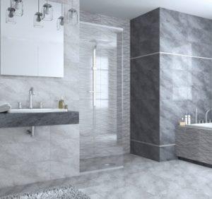 плочки за баня Varna Grey 25x60