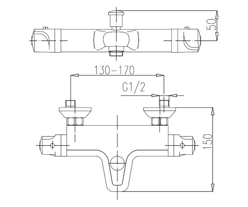 Термостатен смесител вана/душ classic