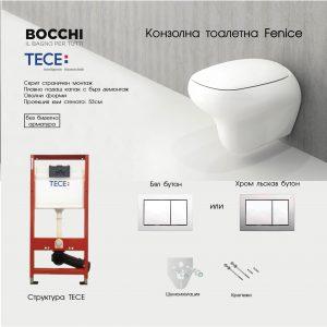 ПРОМО ПАКЕТ TECE+ BOCCHI FENICE БЕЗ БИДЕ