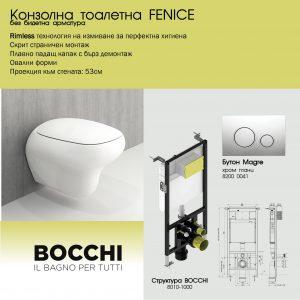 ПАКЕТ BOCCHI+FENICE RIMLESS БЕЗ БИДЕ