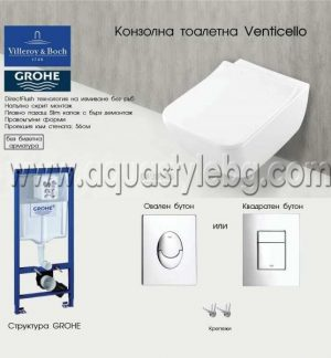 ПАКЕТ GROHE+VENTICELLO VILLEROY&BOCH